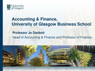 Accounting & Finance, University of Glasgow Business School