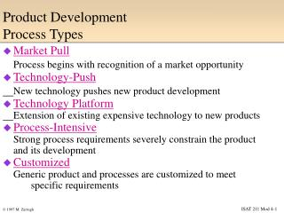 Product Development  Process Types