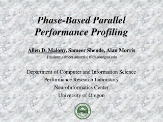 Phase-Based Parallel Performance Profiling