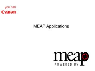 MEAP Applications