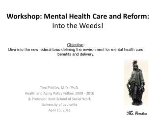 Workshop: Mental Health Care and Reform:  Into the Weeds!