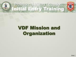 VDF Mission and Organization
