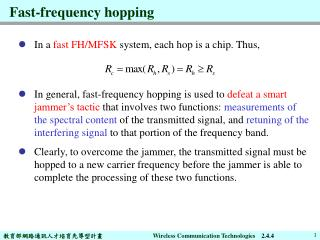 Fast-frequency hopping