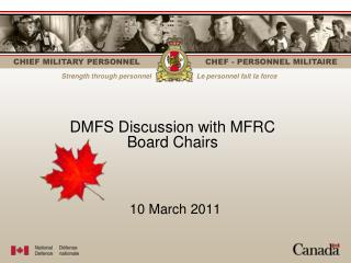 DMFS Discussion with MFRC  Board Chairs