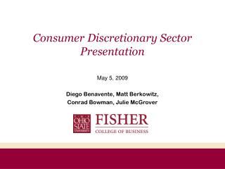 Consumer Discretionary Sector Presentation