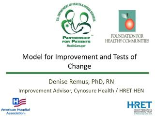 Model for Improvement and Tests of Change