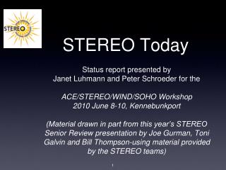 STEREO Today