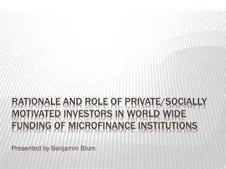 Presented by Benjamin Blum