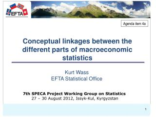 Conceptual linkages between the different parts of macroeconomic statistics
