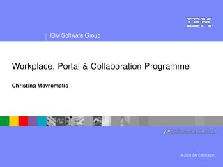 Workplace, Portal & Collaboration Programme