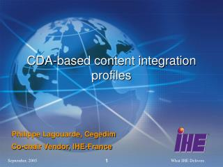 CDA-based content integration profiles