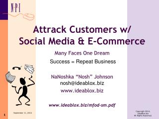 Attrack Customers w/  Social Media & E-Commerce