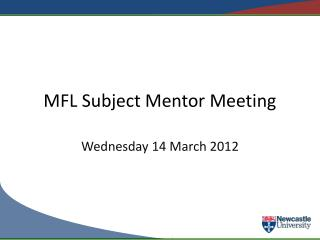 MFL Subject Mentor Meeting