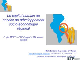 Le capital humain au service du développement socio-économique régional