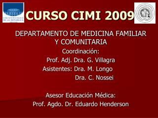 CURSO CIMI 2009