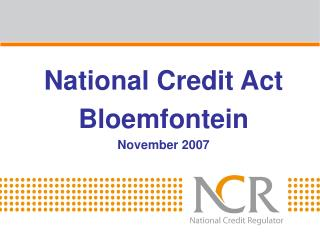 National Credit Act