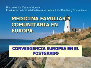 MEDICINA FAMILIAR Y COMUNITARIA EN EUROPA