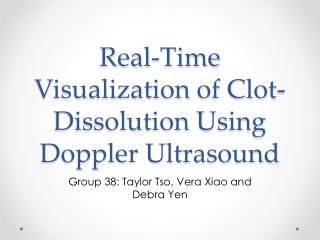 Real-Time Visualization of Clot-Dissolution Using Doppler Ultrasound
