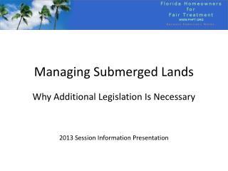 Managing Submerged Lands
