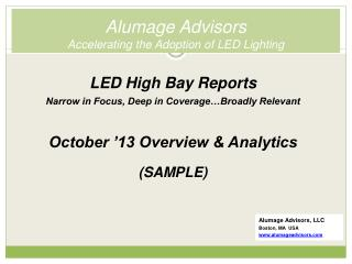 Alumage Advisors Accelerating the Adoption of LED Lighting