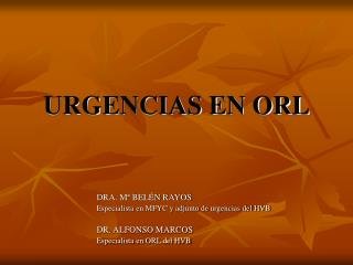 URGENCIAS EN ORL