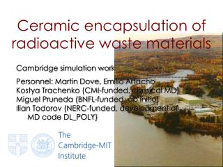 Ceramic encapsulation of radioactive waste materials
