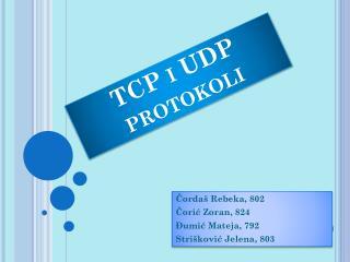 TCP i UDP protokoli