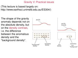 Gravity V: Practical issues