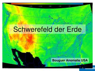 Bouguer Anomalie USA