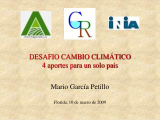 DESAFIO CAMBIO CLIMÁTICO 4 aportes para un solo país