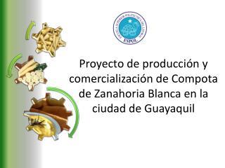 Proyecto de producción y comercialización de Compota de Zanahoria Blanca en la ciudad de Guayaquil