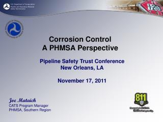 Corrosion Control A PHMSA Perspective