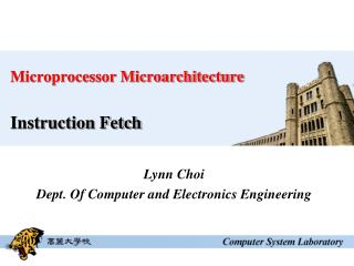 Microprocessor Microarchitecture Instruction Fetch