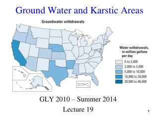 Ground Water and Karstic Areas