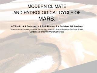 Seasonal and latitudinal distribution of water vapor