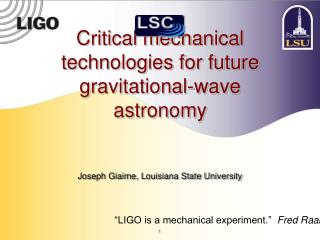 Critical mechanical technologies for future gravitational-wave astronomy