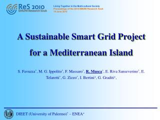 A Sustainable Smart Grid Project for a Mediterranean Island