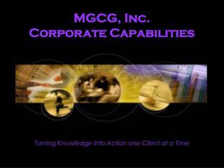 MGCG, Inc. Corporate Capabilities