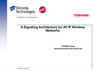 A Signaling Architecture for All IP Wireless Networks