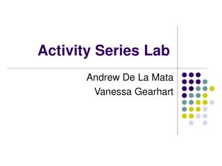 Activity Series Lab