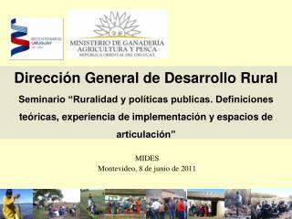 MIDES Montevideo, 8 de junio de 2011