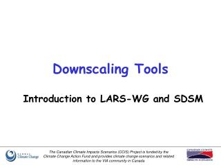 Downscaling Tools