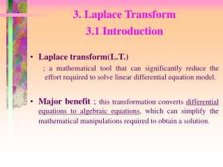 3. Laplace Transform