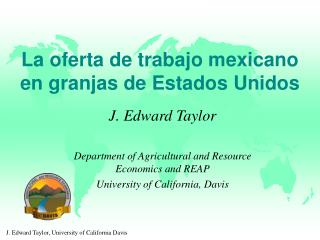La oferta de trabajo mexicano en granjas de Estados Unidos