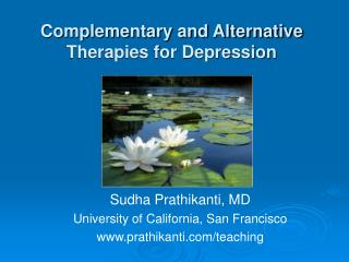 Complementary and Alternative Therapies for Depression