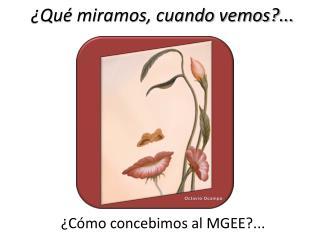 ¿Cómo concebimos al MGEE?...