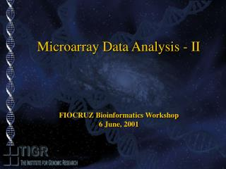 Microarray Data Analysis - II