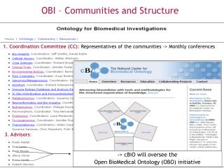OBI – Communities and Structure