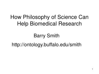 How Philosophy of Science Can Help Biomedical Research