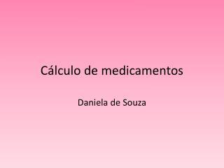 Cálculo de medicamentos